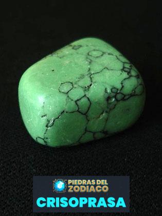 Piedra del Zodiaco Crisoprasa - Wikimedia.org
