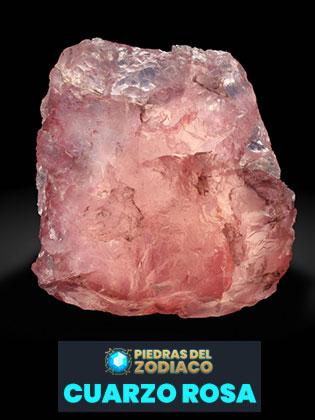 Piedra del Zodiaco Cuarzo Rosa - Bergminer para Wikimedia.org
